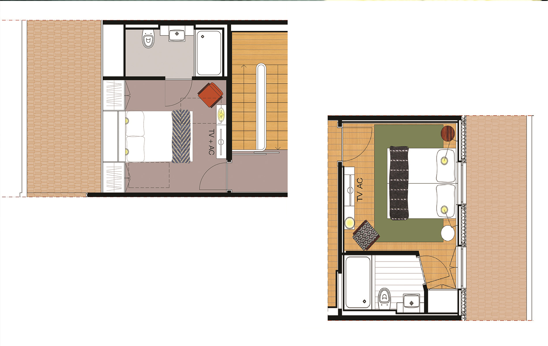 Quarto U - Apartamentos Three Houses 12